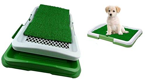 Takestop® Dog Toilette Perros Potty Pad Arenero inodoro lavable 3niveles capas excrementos animales 47x 34x 6cm MOON 1006292