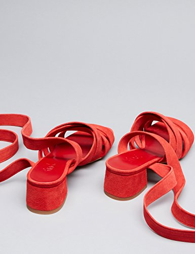 Rem Sandaler Kvinder Finde Ud Af Ruskind Blok Hæl Rød (rød) dsPIYGEWC