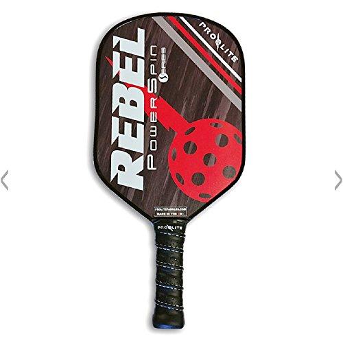 Pro-Lite Rebel PowerSpin Composite Pickleball Paddle (Cash Black / Dean - Pro-lite Sports