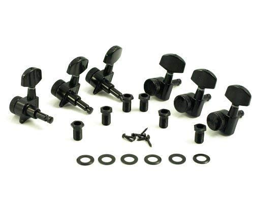 Kluson® Locking Tuners - 3 Per Side - Black