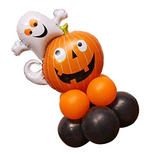 (Baoblaze Halloween Helium Ghost Pumpkin Balloons Post for Party Decoration Children)