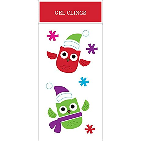 impact innovations christmas owls e window gel clings 55 x 12 - Kcheninnovationen Inkl