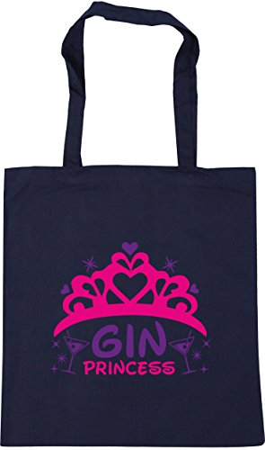 Beach French 10 42cm x38cm Gin HippoWarehouse Tote Princess Shopping Bag litres Gym Navy wfa4RXqxH
