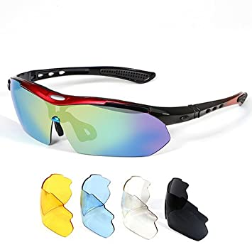 Radbrille mit drei Paar Wechselscheiben  Fahrradbrille Sportbrille Sonnenbrille