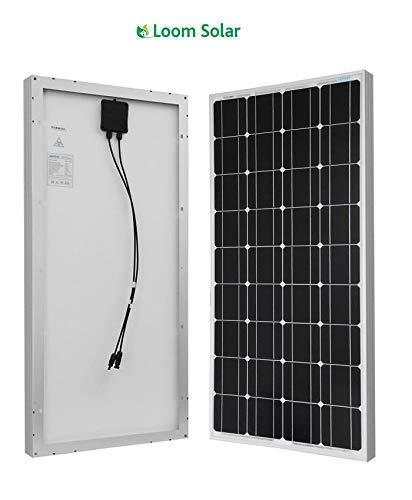 Loom Solar 120 watt-12 Volt Mono Crystalline Panel (Pack of 2)