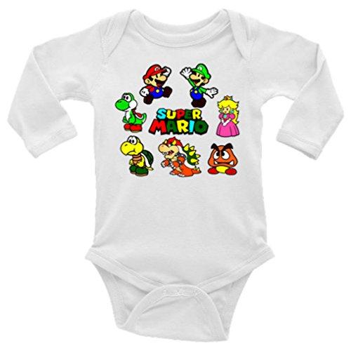 Super Mario Bros. Long Sleeve Unisex Onesie (12-18)