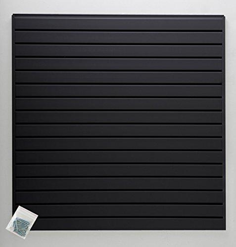 Jifram 01000800 Easy Living Easy Wall Slat Wall Kit, Black by Jifram Extrusions