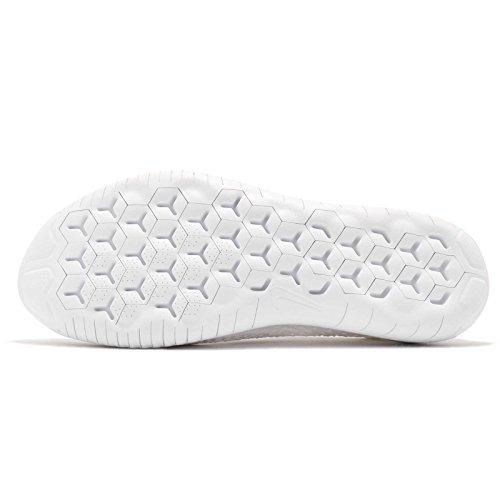 Scarpe White Bianco Nike 2018 103 White Laufschuh Flyknit Uomo Running da Run Free qxxX1Sf
