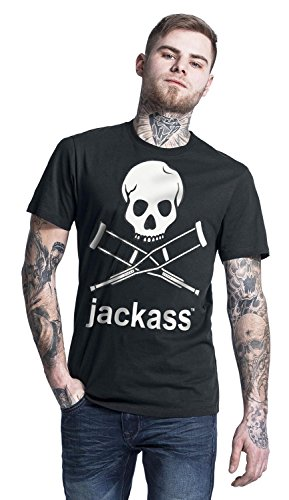 Mtv shirt Mort Motif Taille Noir Homme L Xl De Jackass Acts M S Gris inscription Jackass Et Pour Blanc Xxl Tête T dqIxvw