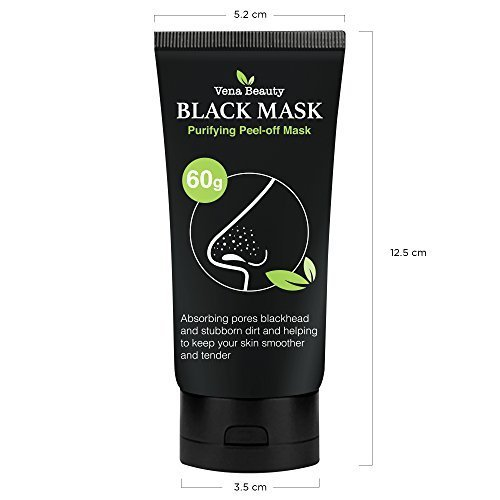 Blackhead-Remover-Black-Mask-2-Pack-Purifying-Peel-off-Mask-Deep-Cleansing-by-Vena-Beauty-120g