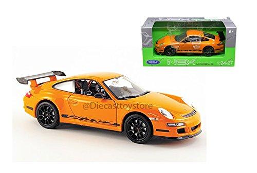 Welly 1/24 Scale Die-cast Collection: Porsche 911 (997) GT3 RS, Orange.