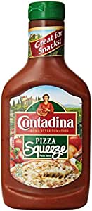 Contadina Pizza Sauce with Roma Tomatoes, Squeezable Bottle, 15 Ounce