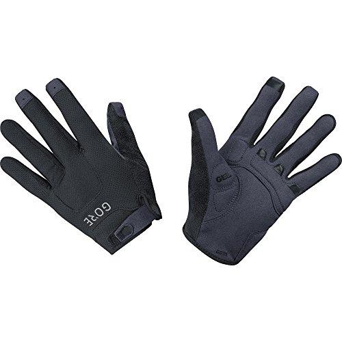 GORE WEAR Men's Breathable Mountain Bike Gloves, C5 Trail Gloves, Size: L, Color: Black, 100116