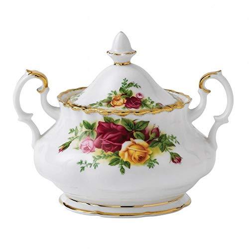 ROYAL ALBERT OLD COUNTRY ROSES -COVD SUGAR BOWL 2 HANDLED TEA SIZE - BNIB - UK MADE
