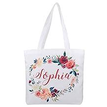 Personalized 16oz Tote Bag, Custom Bridal Party Bag, Bridesmaid Gift Bag, Reusable Canvas Tote Bag, Mother Gift