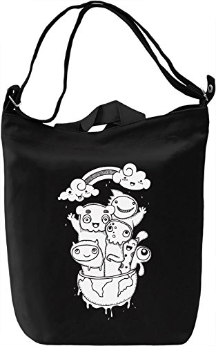 Monsters Borsa Giornaliera Canvas Canvas Day Bag| 100% Premium Cotton Canvas| DTG Printing|