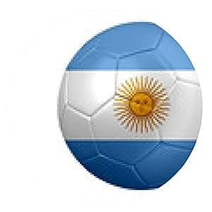 alfombrilla de ratón Fútbol de bandera de Argentina - ronda - 20cm