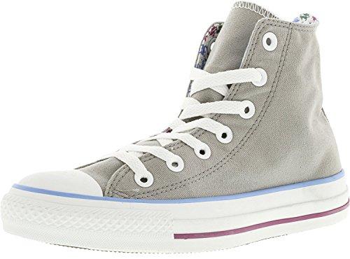 Converse Chuck Taylor Roll Down Hi Ankle-High Canvas Fashion Sneaker Gray cGaaRl