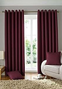 Tejido JACQUARD cuadrados rojo vino 90X 182,88 cm 229X183CM con anillo superior cortinas