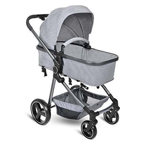 Best Deals! B BAIJIAWEI Convertible Stroller Bassinet - Baby Bassinet Stroller - Newborn Carriage St...