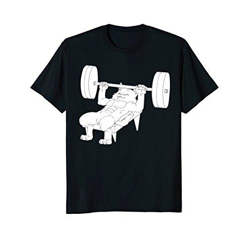 Cat Bench Press Powerlifting T-Shirt