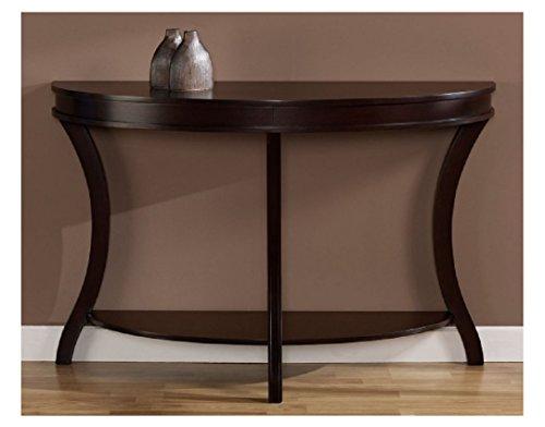 Espresso Finish Semi-Circle Hardwood/MDF/wood veneers Sofa Table, Dimensions 31Hx48Wx17.5D (Sofa Tables For Sale)
