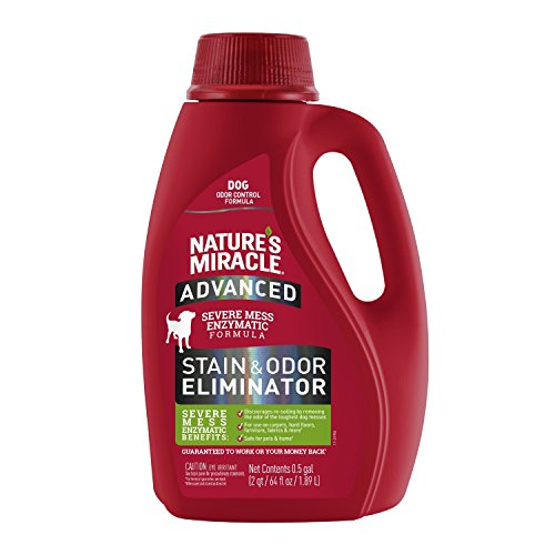 Price comparison product image Nature's Miracle Dog Advanced Stain Odor Eliminator,  128 fl oz,  Enzymatic Formula Urine Stains,  Diarrhea Stains Vomit Stains,  Odor Control