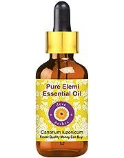 Deve Herbes Pure Elemi Essential Oil (Canarium luzonicum) with Glass Dropper 100% Natural Therapeutic Grade Steam Distilled 50ml (1.69 oz)