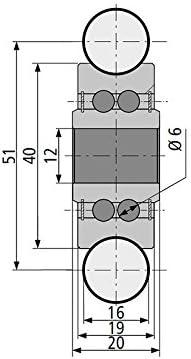 Profillaufrolle PR16 für Welle 16mm