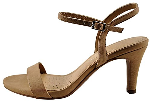 Cambridge Select Womens Open Toe Single Band Buckled Ankle Strappy Mid Heel Slingback Sandal Natural Nbpu bU0oRMB5lx