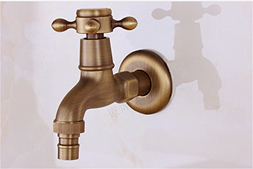 SYW Cobre Antiguo Grifo de Agua de refrigeracion Individuales ...