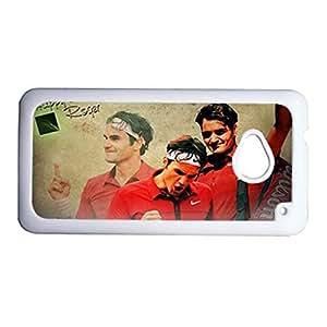 Print With Roger Federer For Htc M7 Custom Back Phone Case For Guys Choose Design 2