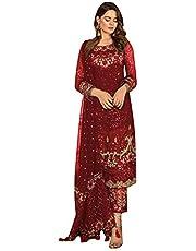 9167 Indian Ready To Wear Pakistani Dress Faux Georgette Suit Heavy Embroidery Work Party Wedding Festive Wear Women