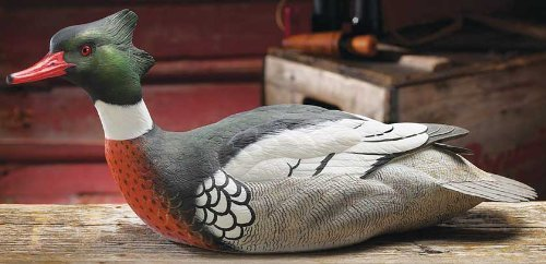 - Red Breasted Merganser Decoy by Phil Galatas Limited Edition of 4500 Signed & Numbered by Wild Wings