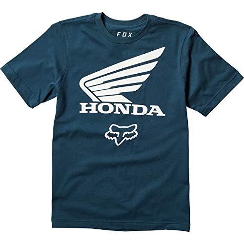 (Fox Racing Youth Honda Basic T-Shirt-Navy-YM)