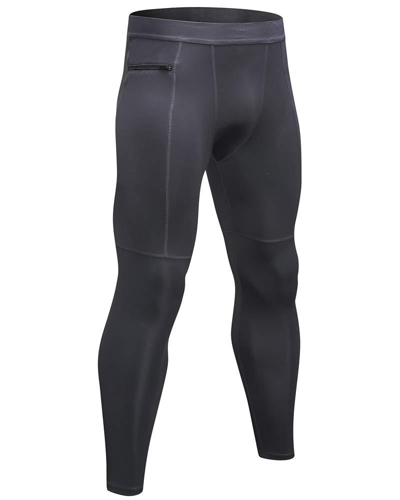 Shengwan Pantalones de Compresi/ón Hombre Deportivos Mallas T/érmicos Correr Gimnasio Leggings Largo con Bolsillo con Cremallera