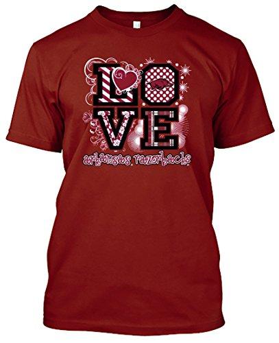 Apparel Razorback Arkansas - NCAA Love T-shirts - Alabama, Arkansas, Auburn, Clemson, Florida, FSU, Georgia, Kentucky, LSU, Mississippi St, Ole Miss, South Carolina, Tennessee, Texas A&M (Arkansas Razorbacks, XX-Large)