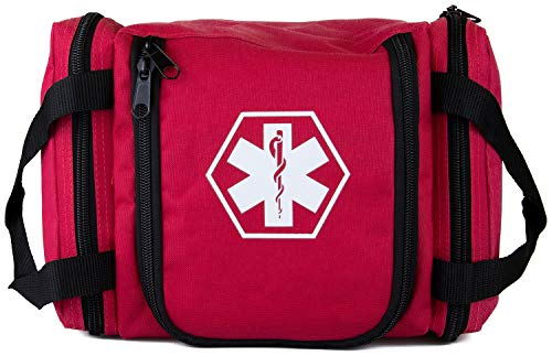 Dixie First Responder II Trauma Bag and First Aid Kit - Red