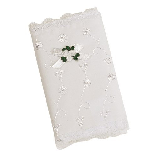 Elegant Baby Eyelet Covered Bible