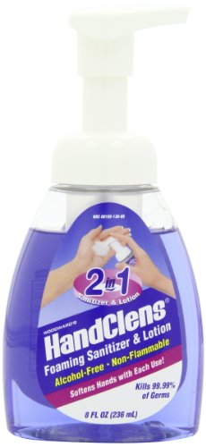 HandClens Alcohol-Free 2 in 1 Foaming Hand Sanitizer & Lotion, 8-Ounce Bottles (Pack of 6)