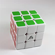 GoodPlay Fangshi GuangYing Magic Cube Speed Puzzle Sticker 3x3x3 Puzzle Cube White + One Customize Cube Tripod