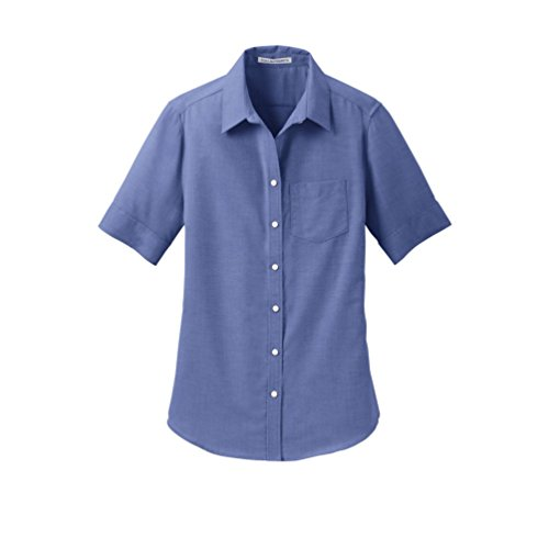 (Port Authority Ladies Short Sleeve SuperPro Oxford Shirt>XXL Navy L659)