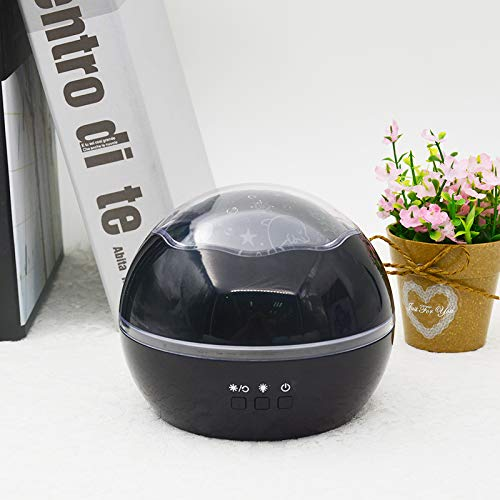 Night Lights for Kids, ZHOPPY Star and Moon Starlight Projector Bedside Lamp for Baby Room Kids Bedroom Decorations - Birthday Gifts for Kid (Black) by ZHOPPY (Image #8)