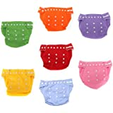 Water & Wood 7pcs Reusable Washable Adjustable Baby Soft Cloth Diaper Nappy Toddler Dry Tender Care