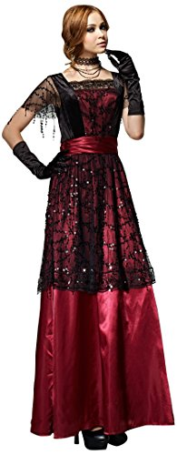 [HGM Costume Women's Uptown Lady, Black/Red, Large] (Hgm Costume)