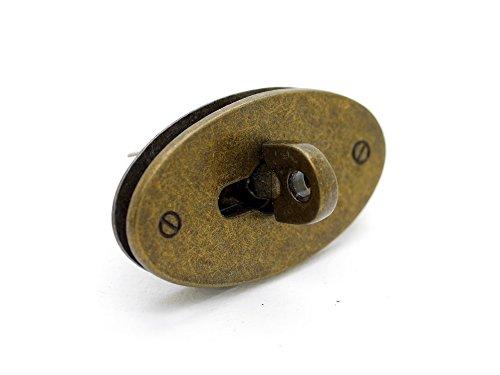 - CRAFTMEmore 1pc Oval Turn Lock Multi Sizes & Colors Purse Twist Lock Clasp Closure Quality Leathercraft Accessories (Small 2
