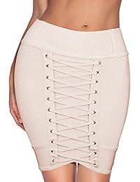 Meilun Women's Basic Stretchy Casual Mini Bandage Skirt