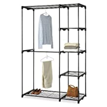 Whitmor 6779-4114-BLK Double Rod Closet, Black