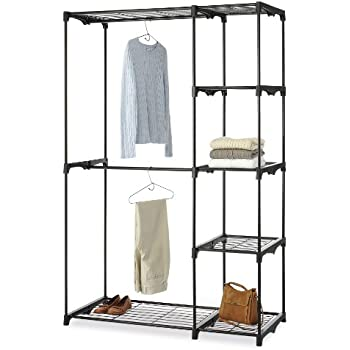 Whitmor Deluxe Double Rod Closet, Black
