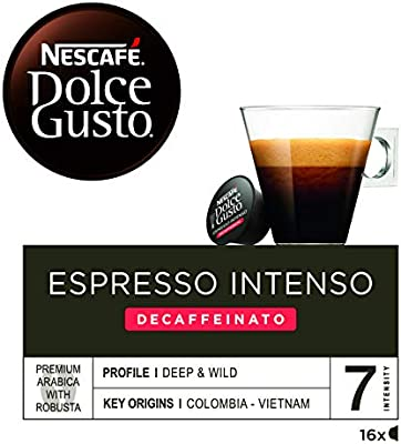 Nescafé Dolce Gusto Café Espresso Intenso Descafeinado - 16 ...